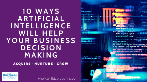 10 Ways Artificial Intelligence Will Help Your Business Decision Making